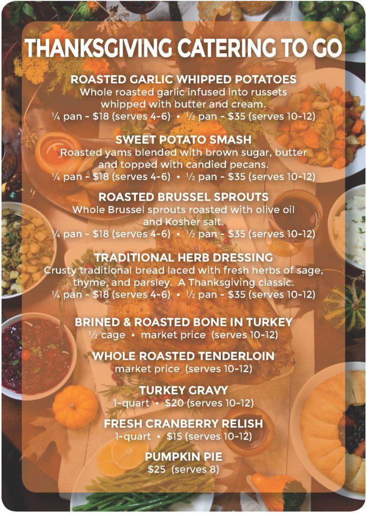 Thanksgiving Catering Menu